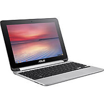 Asus Chromebook Flip C100PA-DB02 10.1 inch; Touchscreen LCD 2 in 1 Netbook - Rockchip Cortex A17 RK3288 Quad-core (4 Core) 1.80 GHz - 4 GB LPDDR3 - Chrome OS - 1280 x 800 - In-plane Switching (IPS) Technology - Convertible - Silver