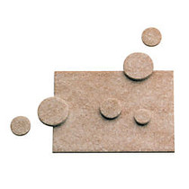Master Caster; Scratch Guard; Self-Adhesive Felt Pads, Combo Pack, Pack Of 25