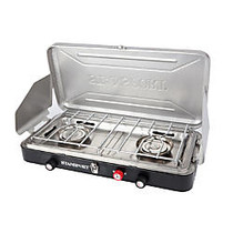 Stansport Folding Propane Stove With Piezo Ignition, Black