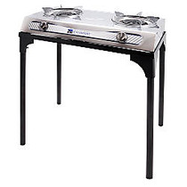 Stansport Propane Stove With Stand, Black/Silver