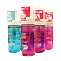 safeHands; Squirts; Hand Sanitizer Foam, Cool Blue And Bubble Gum Scents, 1.75 Oz, Pack Of 6
