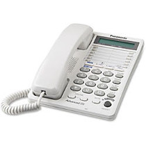 Panasonic KX-TS208W 2-Line Integrated Telephone System 16-Digit LCD with Clock