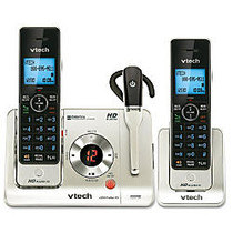 VTech; LS6475-3 DECT 6.0 Digital Dual-Handset Cordless Phone System With Digital Answering, Champagne