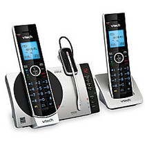 VTech; DECT 6.0 2 Handset Connect To Cell™ Cordless Phone With Digital Answering System, DS6771-3, 2 Handsets, 1 Cordless Headset