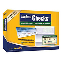 VersaCheck; Instant Checks Software And Business Voucher Check Paper Bundle For QuickBooks;, Quicken; And Money, Traditional Disc