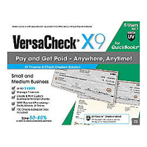 VersaCheck; X1 For QuickBooks; UV Secure 2017, For 5 Users, Traditional Disc