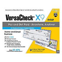 VersaCheck; X1 Gold UV Secure 2017, For 3 Users, Traditional Disc