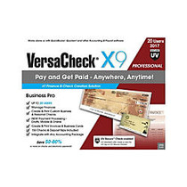 VersaCheck; X9 Professional 2017, For 20 Users, Traditional Disc