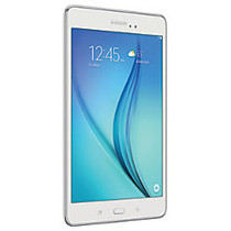 Samsung Galaxy Tab A Tablet, 8 inch; Screen, 1.5GB Memory, 16GB Storage, Android 5.0 Lollipop, White
