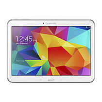 Samsung Galaxy Tab; 4 Tablet, 10.1 inch; Screen, 1.5GB Memory, 16GB Storage, Android 4.4 KitKat, White