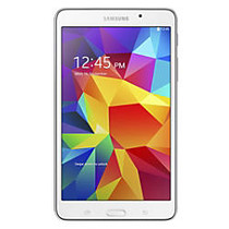Samsung Galaxy Tab; 4 Tablet, 7 inch; Screen, 1.5GB Memory, 8GB Storage, Android 4.4 KitKat, White