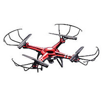 Propel RC Cloud Rider HD Stunt Drone Quadrocopter, Red/Chrome