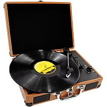 PylePro Retro Belt-Drive Turntable With USB-to-PC Connection, Rechargeable Battery