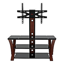 Z-Line Designs; Makena Flat Panel 3-in-1 Television Mount System, 50 inch;H x 50 inch;W x 20 inch;D, Cherry/Black
