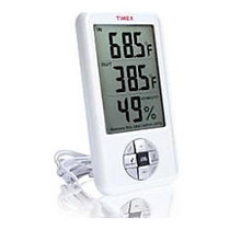 Timex Indoor/Outdoor Thermometer With Indoor Hygrometer and Clock
