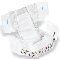 DryTime Disposable Baby Diapers, Size 5, 30 - 38 Lb, White, 18 Diapers Per Bag, Case Of 8 Bags