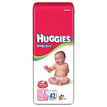 Kimberly-Clark Huggies; Snug & Dry Disposable Diapers, Size 2, 12-18 Lb, Pack Of 42