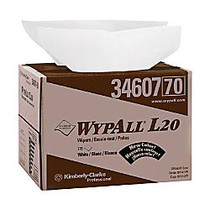 WYPALL L20 Wipers, BRAG Box, 12-1/2 inches x 16-4/5 inches, Four-Ply, White, One box of 176 wipers per Case, Sold by the Case