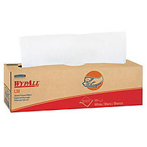 Wypall L30 Light Duty Wipers - 9.75 inch; x 16.38 inch; - White - Soft, Foldable, Light Duty - For Face, Hand - 800 / Carton