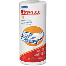 Wypall L30 Wipers - 70 Sheets/Roll - White - Perforated - For Face, Hand - 24 / Carton
