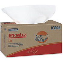 Wypall L40 All-purpose Wipers - 10 inch; x 9.80 inch; - White - Absorbent, Reinforced, Soft, Solvent Resistant, Wet Strength - For Face, Hand, General Purpose, Industry - 90 Sheets Per Box - 9 / Carton