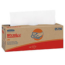 Wypall L40 Cloth-like Wipes - 9.80 inch; x 16.40 inch; - White - Absorbent, Wet Strength, Soft - For Face, Hand - 100 Sheets Per Box - 9 / Carton