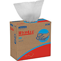 Wypall X60 Wipers - 9.10 inch; x 16.80 inch; - White - Hydroknit - Lightweight, Absorbent, Residue-free, Durable, Strong, Reinforced - For General Purpose - 125 Sheets Per Box - 1260 / Carton