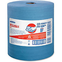 Wypall X80 Wipers - 12.50 inch; x 13.40 inch; - 475 Sheets/Roll - Blue - Cloth - Reusable, Eco-friendly, Absorbent, Durable - For Industry - 1 / Each