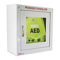 Zoll Medical AED Plus Defibrillator Alarmed Wall Cabinet, White
