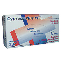 Unimed Cypress Textured Latex Examination Gloves, Large, Box Of 100