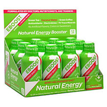 EBOOST Energy + Vitamin Shots, Berry-Melon, 2 Oz, Pack Of 12