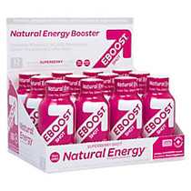 EBOOST Energy + Vitamin Shots, Superberry, 2 Oz, Pack Of 12