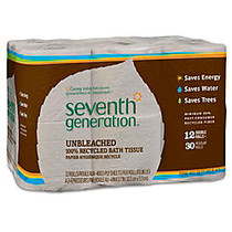 Seventh Generation; 2-Ply Bathroom Tissue, Natural, 100% Recycled, Pack Of 12