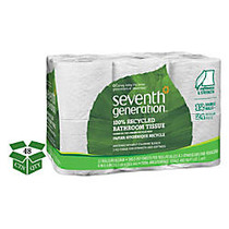 Seventh Generation™ 2-Ply Bathroom Tissue, 100% Recycled, White, 300 Sheets Per Roll, 12 Rolls Per Pack, Case Of 4 Packs