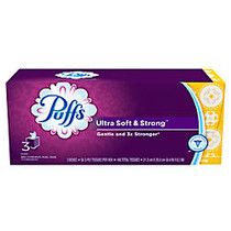 Puffs; Ultra Soft And Strong 2-Ply Facial Tissue, 56 Tissues Per Box, Pack Of 3