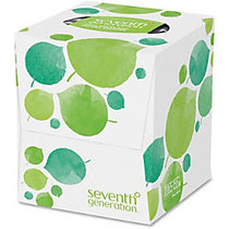 Seventh Generation 100% Recycled Facial Tissue - 2 Ply - 7.80 inch; x 9 inch; - White - Paper - Hypoallergenic, Soft, Absorbent, Non-chlorine Bleached, Dye-free, Fragrance-free, Chemical-free - For Home, School, Office - 85 Sheets Per Box - 36 / Cart