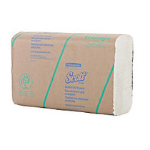 SCOTT; 2-Ply Multifold Paper Towels, 11 1/2 inch;, 60% Recycled, White, 100 Paper Towels Per Pack, Carton Of 16 Packs