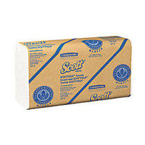 Scott; Scottfold™ 50% Recycled Multi-Fold Paper Towels, 9 2/5 inch; x 12 2/5 inch;, White, Case Of 4,375 Sheets