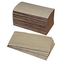 SKILCRAFT; Single Fold 1-Ply Paper Towels, 5 3/8 inch; x 9 1/4 inch;, 90% Recycled, Kraft, 250 Sheets Per Roll, Case Of 16 Rolls (AbilityOne 8540-01-359-0798)
