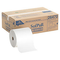 Georgia-Pacific SofPull; 40% Recycled White Hardwound Roll Paper Towels, Carton Of 6