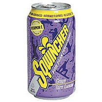Sqwincher Ready-To-Drink Electrolyte Replenishment, Grape, 12 Oz Can, 24 Per Case
