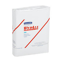 WYPALL X50 Wipers, 10 inches x 12-1/2 inches, White, Sold as 32 packs of towels per Case