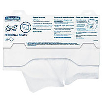 Scott; Personal Toilet Seat Covers, 15 inch; x 18 inch;, White, Pack Of 125
