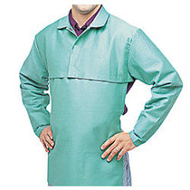 Anchor Brand; Cotton Sateen Flame-Retardant Cape Sleeves, Large, Visual Green