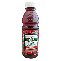 Tropicana; Juice With 120% Vitamin C, Cranberry, 10 Oz, Pack Of 24