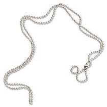 SICURIX Beaded ID Chain-100/Pk - 36 inch; Length - Silver - Nickel Plated