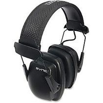 Uvex Sync Stereo Earmuffs - Noise Protection - Black - 1 Each