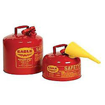 5GAL.METAL YELLOW TYPE ISAFETY CAN W/F-15 FUNNEL