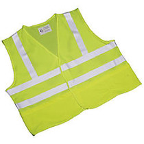SKILCRAFT; 360? Visibility Safety Vest, Large, Yellow/Lime (AbilityOne 8415-01-598-4870)