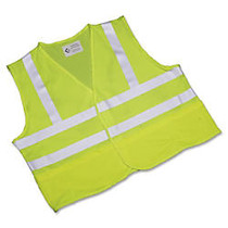 SKILCRAFT; 360? Visibility Safety Vest, X-Large, Yellow/Lime (AbilityOne 8415-01-598-4870)